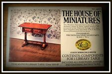 RARE VINTAGE DOLLHOUSE HOUSE OF MINIATURE LIBRARY TABLE KIT, ANTIQUE REPLICA~