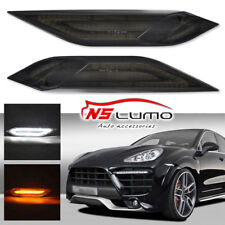 2011-2014 Porsche Cayenne 958 Smoke Lens LED Side Marker Lights Signal Lamps