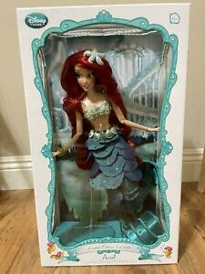 """NRFB New Disney Store The Little Mermaid Ariel 17"""" Limited Edition Doll 2013"""