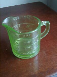 Small vintage gleen glass measuring jug