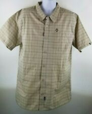 Rusty Men's 2XL XXL Button up Short Sleeve Shirt Plaid New with tags