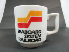 VINTAGE SEABOARD SYSTEM RAILROAD CERAMIC TEA COFFEE MUG CUP RETRO DECOR TRAINS