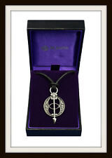 GLASTONBURY CHALICE WELL ~ PEWTER PENDANT NECKLACE ~ FROM ST. JUSTIN ~ FREE P&P
