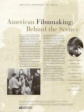 #680 37c America Filmmaking MS10 #3772 USPS Commemorative Stamp Panel