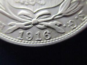 PERU 1 SOL 1916 DOUBLE DIE 6
