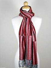 Tolani Collection Scarf - STRIPES in Red Multi - New