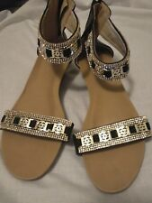 Palazzo resort ankle strap Greek style sandals size 41