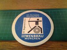 sottobicchiere beer mats birra bierdeckel 20 Olympiade munchen 1972 arco