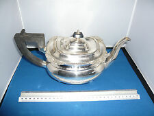 Vintage Silver Plated Teapot Ebonised Wood Handle No Plate wear great Condition