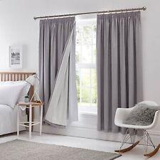 Dunelm Pencil Pleat Blackout Curtain Linings 228 x 228cm - White A