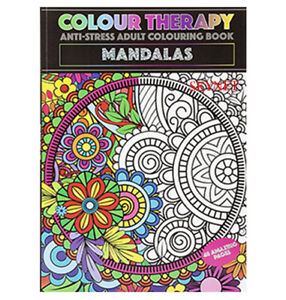 NEW MANDALAS ADULT FOR ADULTS COLOURING BOOK A4 ANTI-STRESS ACTIVITY THERAPY