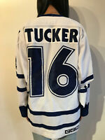 Vintage Toronto Maple Leafs Darcy Tucker NHL Jersey Men Size Medium CCM Damaged