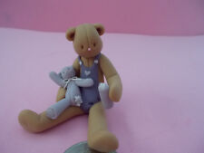 50 COLOURFUL FIMO POLYMER CLAY TEDDY BEARS HOLE FROM TOP TO BOTTOM FREE P/&P