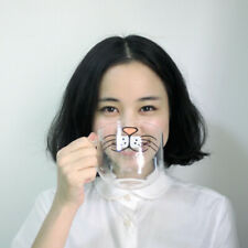 Glass Cup Cat Face Mugs Coffee Tea Milk Breakfast Mug Creative Drinkware Lovely