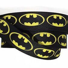 """Grosgrain Ribbon 5/8"""", 7/8"""",1.5"""" & 3"""" Hero Batman H10 Printed Usa Seller"""