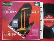 PIANO MUISIC OF CHOPIN VOL 2 WILHELM KEMPF  LONDON CS 6041 STEREO LP  BB WB FFSS