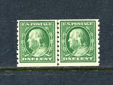 """US 392, 1910 1c FRANKLIN, LP, SLWMK LETTER """"U,"""" MNH (ID7238)"""