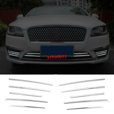 2017-2020 For Lincoln MKZ Chrome steel front bumper grille strip cover trim 10PC
