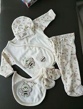 5 teiliges Neugeborenen Set Gr für 0-4 Monate creme ** neu in OVP **