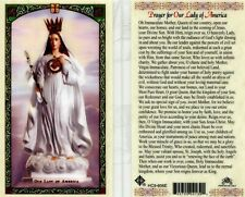 Prayer for Our Lady of America Laminated Card Immaculate Mother Country's Queen