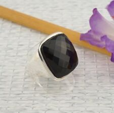 Ringe mit Edelsteinen aus Sterlingsilber echten (18,1 mm Ø) Onyx Innenvolumen