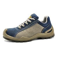 Safetoe Safety Work Shoes Mens Boots Blue Breathable Steel Toe Lace-up L-7295