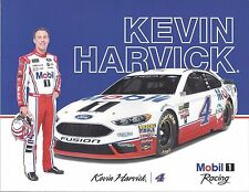 "2017 KEVIN HARVICK ""MOBIL 1 FORD"" #4 MONSTER ENERGY NASCAR POSTCARD"