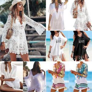 Women Beach Dress Cover Up Kaftan Sarong Tops Summer Wear Ladies Swimwear Blouse