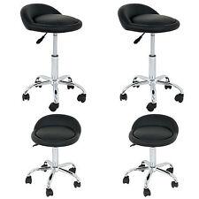Set of 4 Hydraulic Adjustable Rolling Massage Salon Spa Stools Open Back Chairs