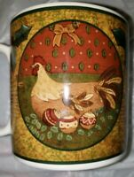 Sakura Warren Kimble Oneida Stoneware Holiday Cheer 12 OZ Chicken Mug Cup