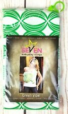Seven Everyday Slings Infant Carrier Baby Sling Green Vibe Size 7 1X-2X