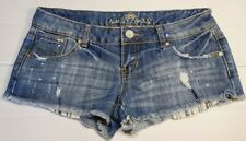 Almost Famous Distressed Jean Shortie Shorts Size 7