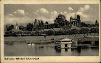 Bad Sooden Allendorf Hessen AK ~1940 Schwanenteich Teich Salinen Kuranlage Kur