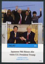 Palau 2017 MNH Donald Trump Visits Japan Shinzo Abe 1v S/S US Presidents Stamps