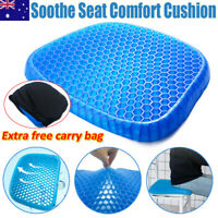 Gel Honeycomb Seat Cushion Flex Back Support Spine Breathable Protector Chair TV