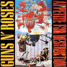 Guns N' Roses Appetite For Destruction Banned Vinyl LP Cover Sticker or Magnet