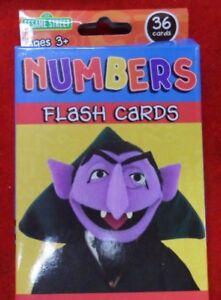 SESAME STREET Numbers Flash cards Educational Kids Game - Free Post