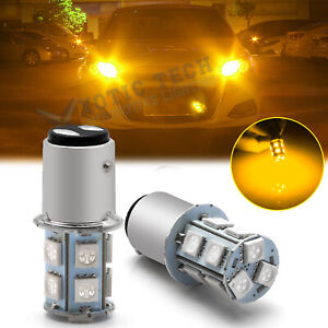 1157 2357 LED Front Turn Signal Light Bulb Amber for Hyundai Sonata Santa Fe KIA