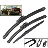3Pcs/set For Holden Cruze JH Hatchback 08-14 Front Rear Windscreen Wiper Blades