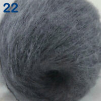 Sale 1ball DK MOHAIR 50% Angora goats Cashmere 50% silk Yarn Knitting Dark Grey