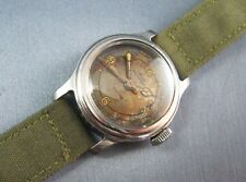 Rare Vintage Mido WW2 Military Style NURSE Watch Stainless Steel 15J