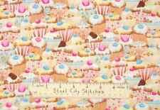 Timeless Treasures Cupcake Baking Cup Cake Kitchen Bake Girl Cotton Fabric YARD