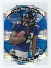 2011 Topps Finest Torrey Smith Atomic Refractor Rookie Card.