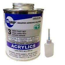 Weld On 3 Acrylic Adhesive Pint And Applicator Bottle With Needle