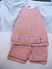 GIRL;S SIZE 4-T TODDLER 2- PIECE SHORT & TOP SET BY PEACHES AND CREAM