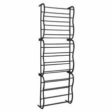 Black 36 Pair Over Door Hanging Shelf Shoe Rack Storage Organiser