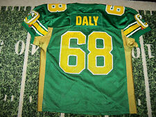 VTG 1990s Champion Oregon Ducks Football Game Used Worn Jersey Donald Duck Style