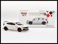 HONDA CIVIC TYPE R FK8 TSM WHITE LEFT LHD MINI GT 1/64 diecast model INT PACKAGE