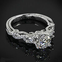 CERTIFIED 2.56CT WHITE ROUND CUT DIAMOND ENGAGEMENT WEDDING 14KT WHITE GOLD RING