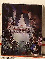 NEW CAPTAIN AMERICA CIVIL WAR 3D+2D BLU-RAY STEELBOOK! FULL SLIP B! NOVA CH#13!